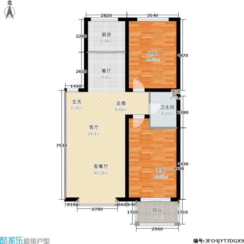 浩正渼林湾95.73㎡浩正�林湾二期3#5#楼户型