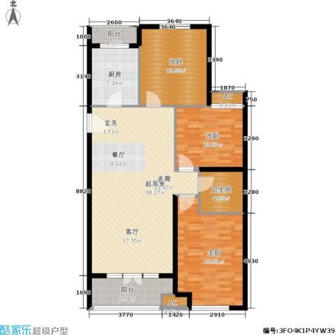悦水澜庭3室0厅1卫1厨141.00㎡户型图