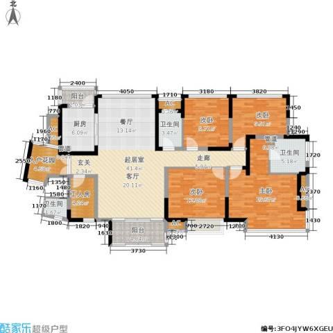 恒基水漾花城4室0厅3卫1厨167.00㎡户型图