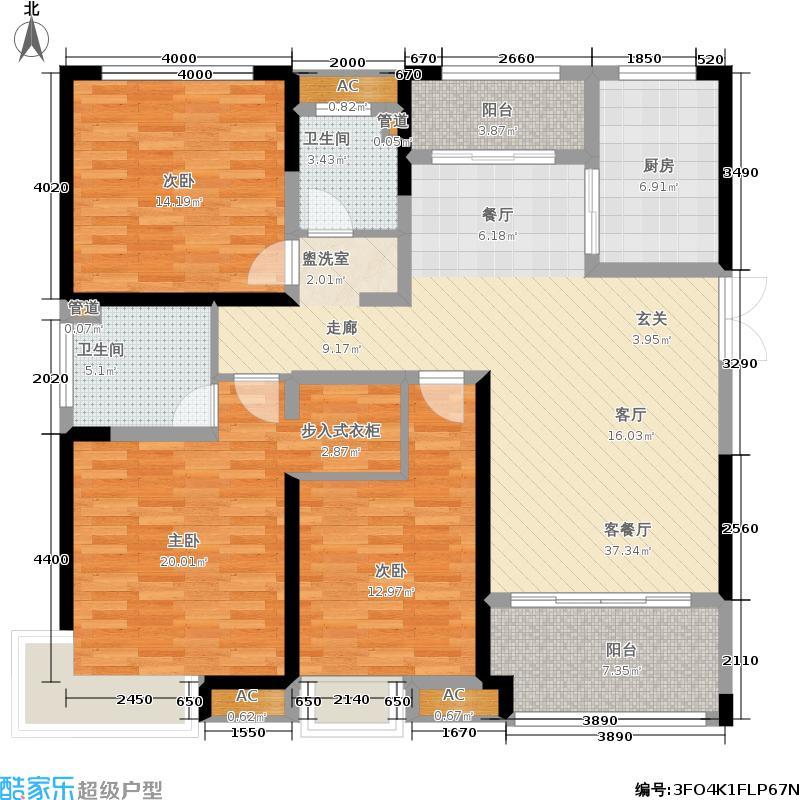 融侨悦城131.00㎡二期10#楼标准层D2户型
