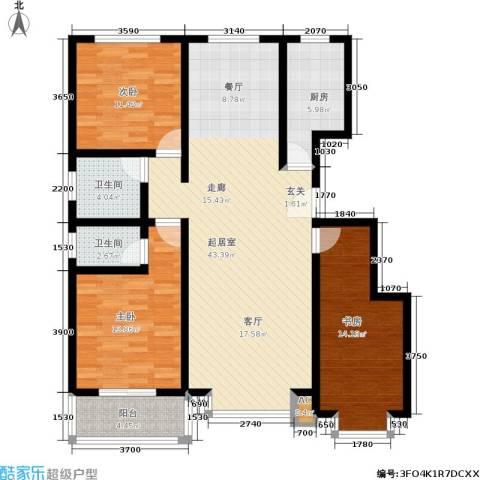 朱雀门3室0厅2卫1厨144.00㎡户型图