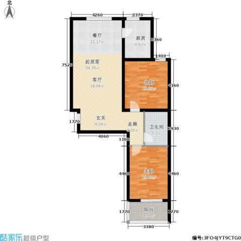 阳光绿城2室0厅1卫1厨102.00㎡户型图