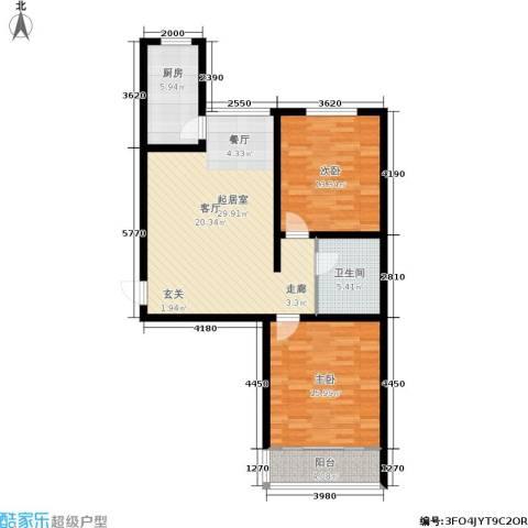 阳光绿城2室0厅1卫1厨95.00㎡户型图