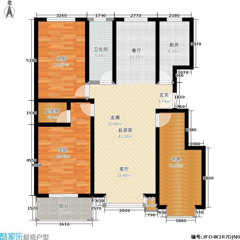 朱雀门3号楼B户型