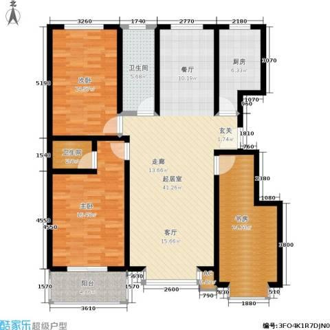 朱雀门3室0厅2卫1厨153.00㎡户型图