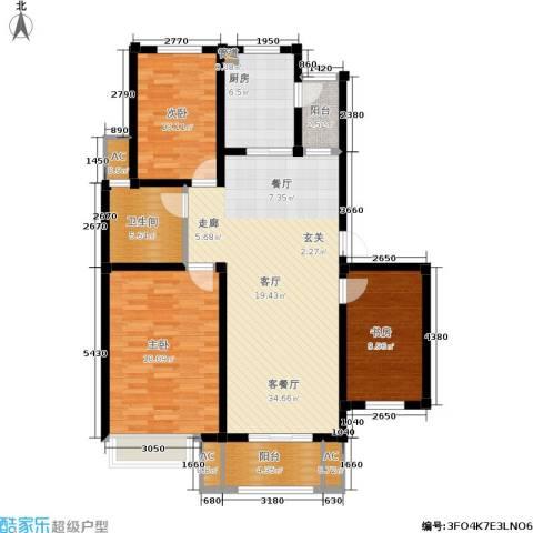 海正香醍湾3室1厅1卫1厨108.00㎡户型图