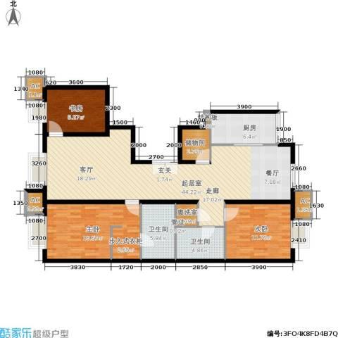 远洋沁山水上品3室0厅2卫1厨145.00㎡户型图
