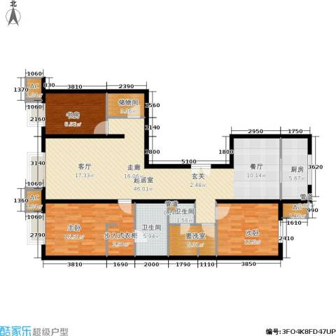 远洋沁山水上品3室0厅2卫1厨148.00㎡户型图