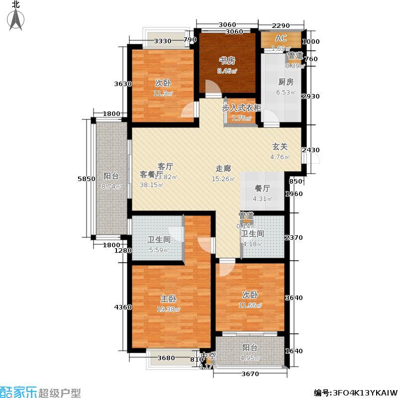 龙湖时代天街142.00㎡西单元A1户型3室2厅