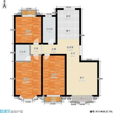 枫丹美庐3室0厅2卫0厨175.00㎡户型图