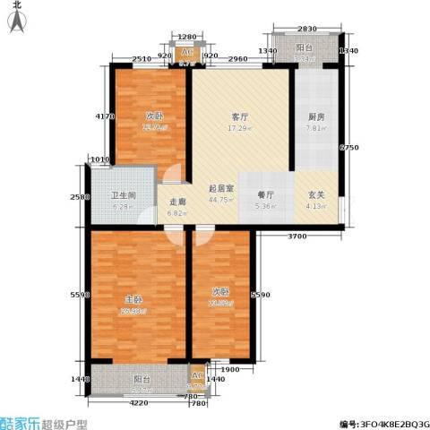 枫丹美庐3室0厅1卫0厨105.16㎡户型图