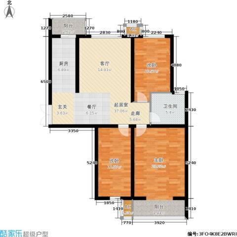 枫丹美庐3室0厅1卫0厨105.00㎡户型图
