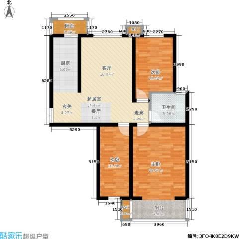 枫丹美庐3室0厅1卫0厨124.00㎡户型图