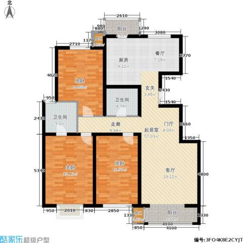 枫丹美庐3室0厅2卫0厨169.00㎡户型图