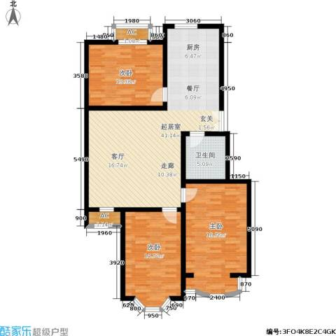 枫丹美庐3室0厅1卫0厨108.00㎡户型图