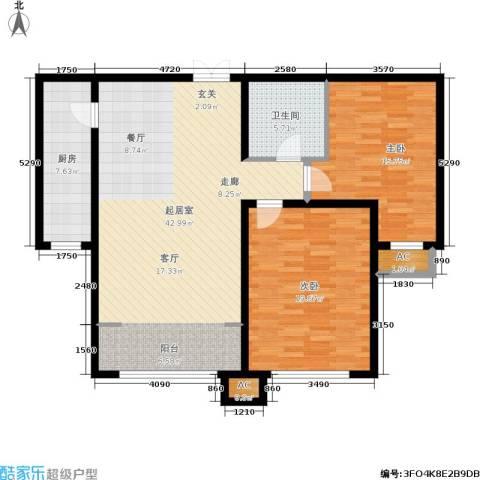 枫丹美庐2室0厅1卫1厨131.00㎡户型图