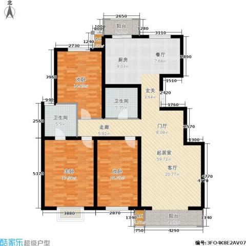 枫丹美庐3室0厅2卫0厨137.00㎡户型图