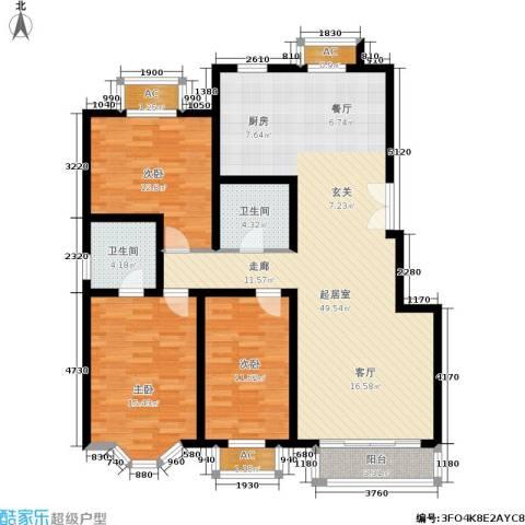 枫丹美庐3室0厅2卫0厨120.00㎡户型图