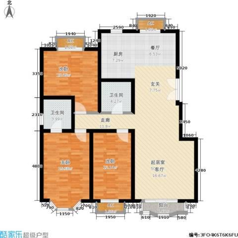 枫丹美庐3室0厅2卫0厨150.00㎡户型图