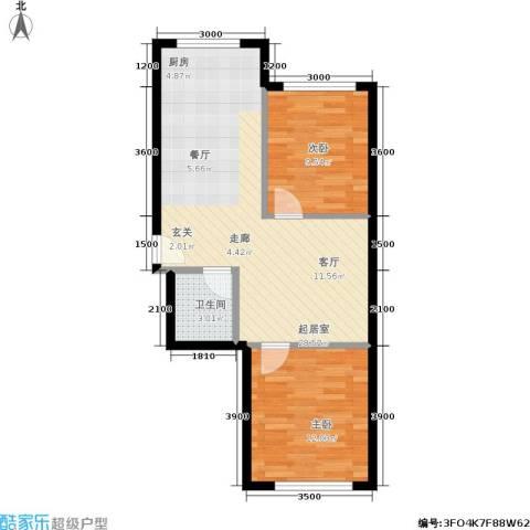 皇都郦景三期2室0厅1卫0厨75.00㎡户型图