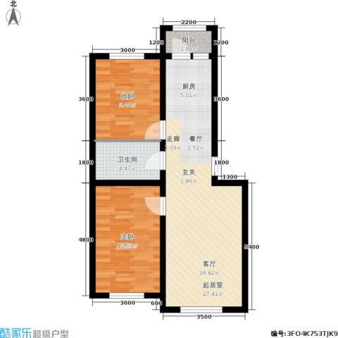 皇都郦景三期2室0厅1卫0厨80.00㎡户型图