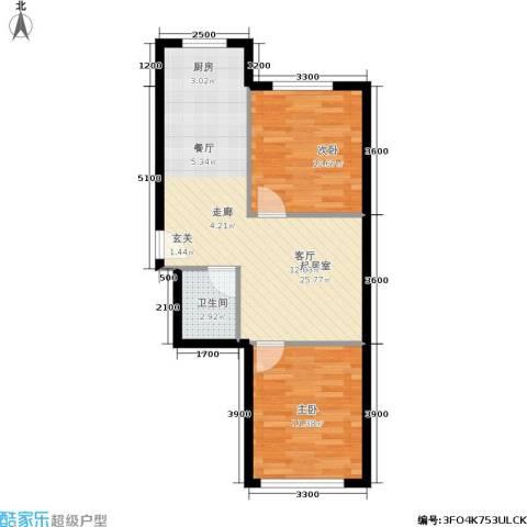 皇都郦景三期2室0厅1卫0厨71.00㎡户型图