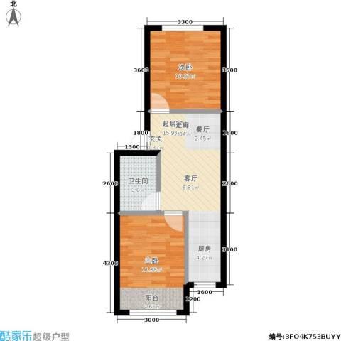 皇都郦景三期2室0厅1卫0厨60.00㎡户型图