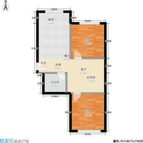 皇都郦景三期2室0厅1卫0厨84.00㎡户型图