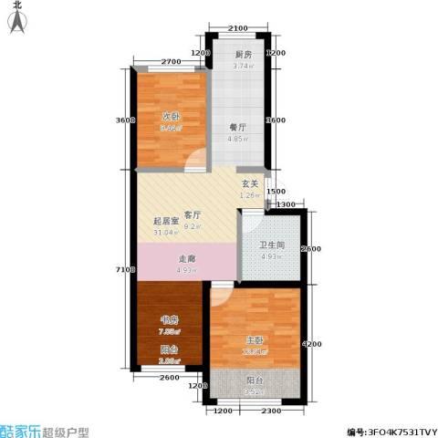 皇都郦景三期2室0厅1卫0厨82.00㎡户型图