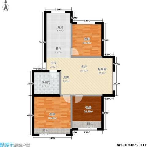 皇都郦景三期3室0厅1卫0厨110.00㎡户型图