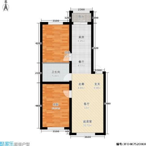 皇都郦景三期2室0厅1卫0厨91.00㎡户型图