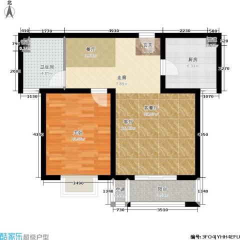 和骏新家园1室1厅1卫1厨67.00㎡户型图