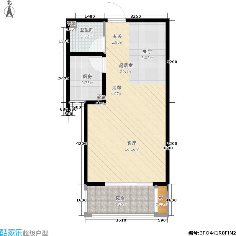 海龙湾12号楼标准层J户型