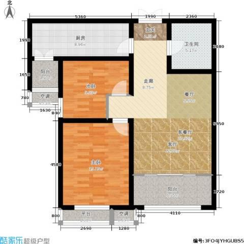 宇泰泰悦2室1厅1卫1厨90.00㎡户型图