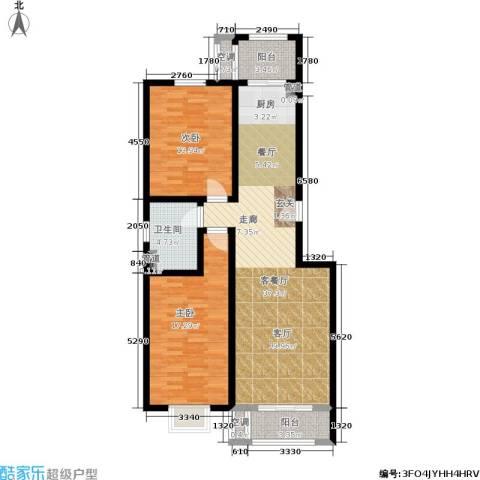 和骏新家园2室1厅1卫0厨94.00㎡户型图