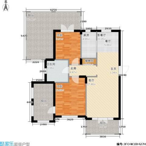 加州海岸2室1厅1卫1厨148.00㎡户型图