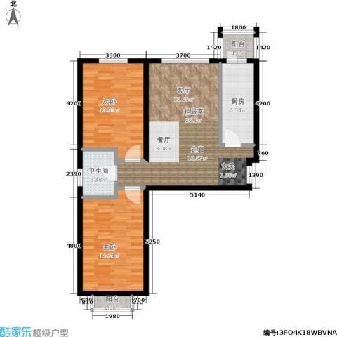 巨华世纪城2室0厅1卫1厨96.00㎡户型图