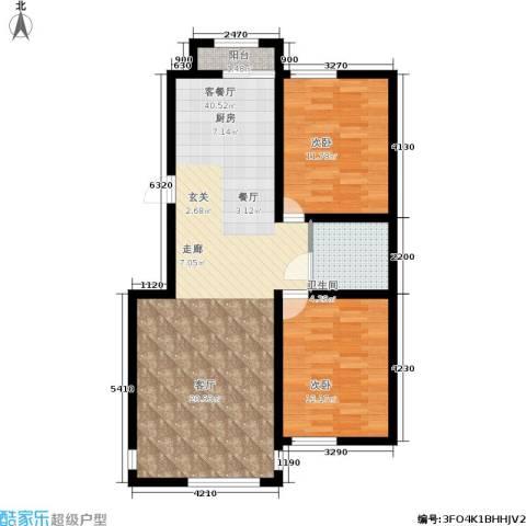 鑫鼎・广场2室1厅1卫0厨84.00㎡户型图