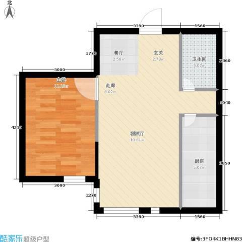 鑫鼎・广场1室1厅1卫1厨62.00㎡户型图