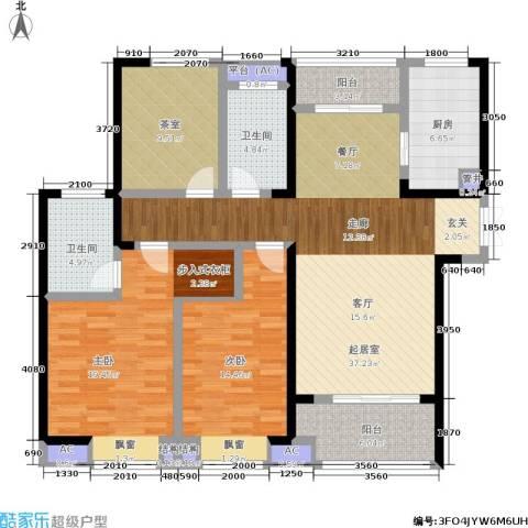 天鸿・尹山湖韵佳苑2室0厅2卫1厨127.00㎡户型图