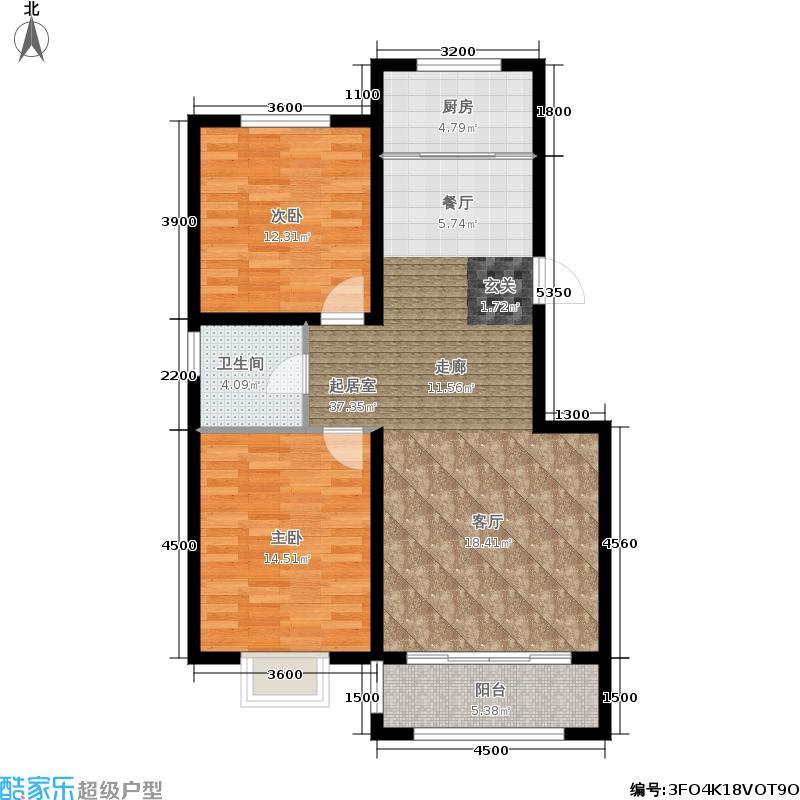 天疆骊城1#楼11层2单元A12室户型
