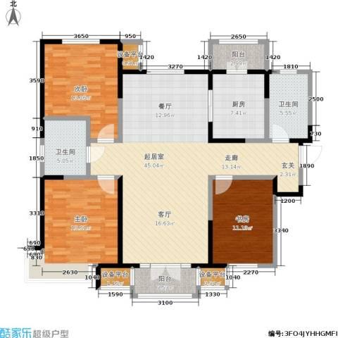 双发金玺城3室0厅2卫1厨150.00㎡户型图