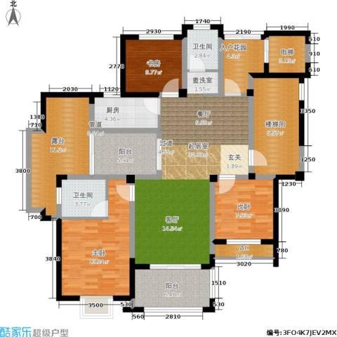 永吉・凤凰城3室0厅2卫1厨168.00㎡户型图