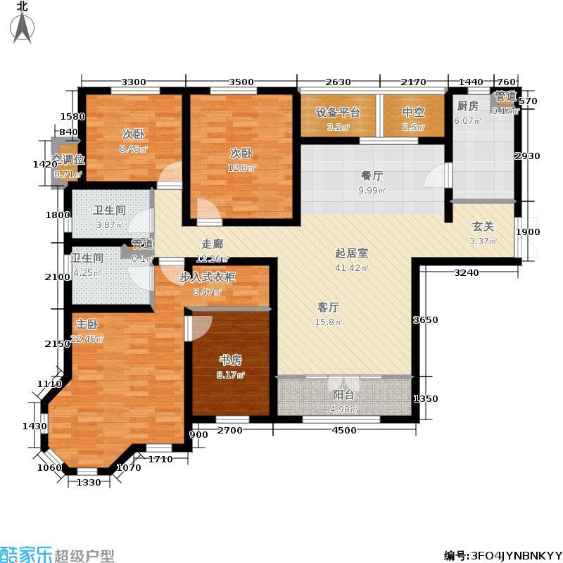 五矿榕园旷世公馆170.00㎡1-9号楼高层标准层E户型