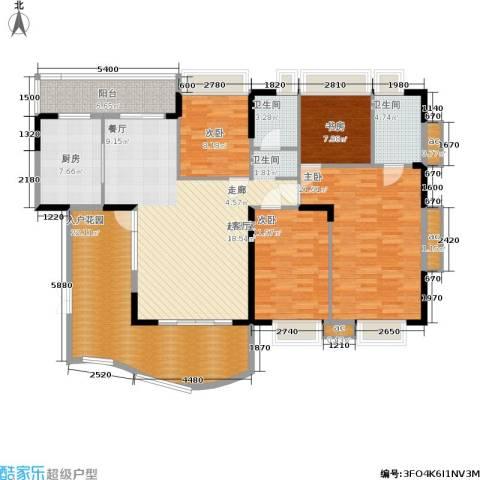 东方威尼斯4室0厅2卫1厨182.00㎡户型图