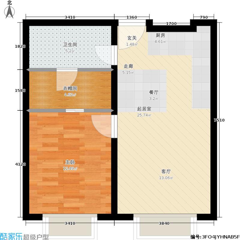 天津大悦城悦府Ⅱ期74.88㎡3号楼6-25层09户型