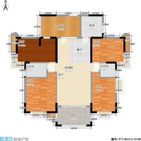 东方威尼斯4室0厅2卫1厨170.00㎡户型图