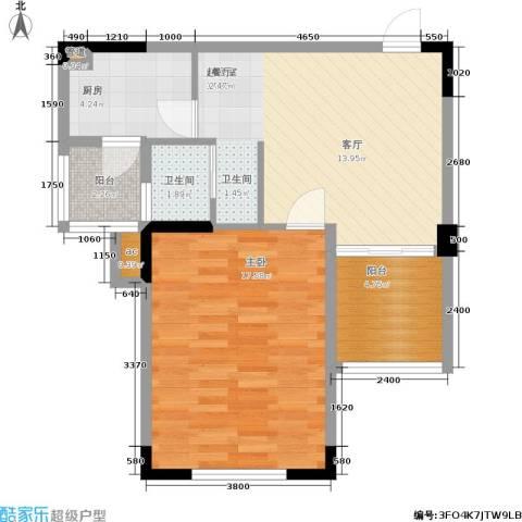东方威尼斯1室0厅1卫1厨70.00㎡户型图