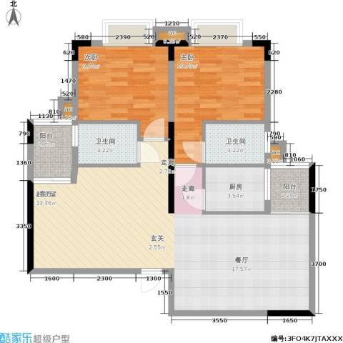 东方威尼斯2室0厅2卫1厨106.00㎡户型图