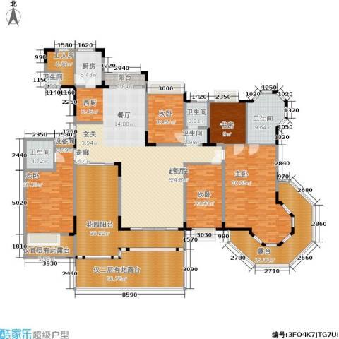 东方威尼斯5室0厅4卫1厨359.00㎡户型图